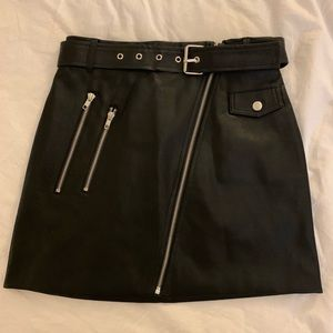 Forever 21 Faux Leather Moto Skirt